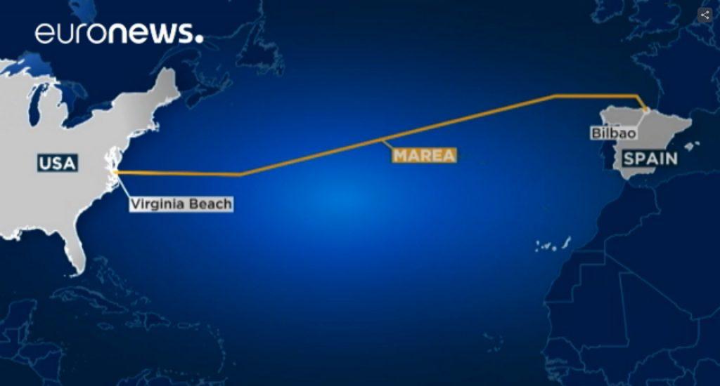 Интернет-кабель по дну Атлантики. Проект Мicrosoft и Facebook