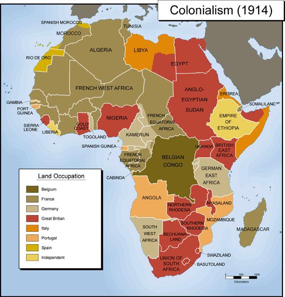 Карта африканского колониализма