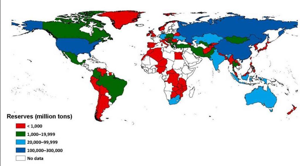 Мировые ресурсы угля