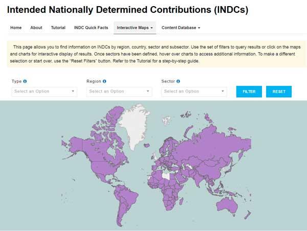 Выбросы парниковых газов.. Intended Nationally Determined Contributions (INDCs)