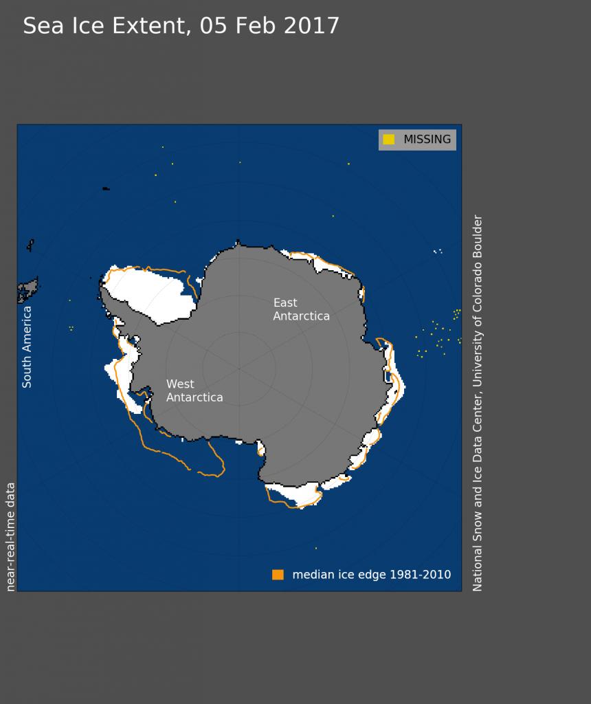 Уменьшение ледовитости Антарктиды