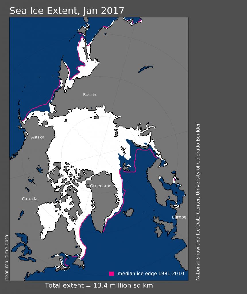 уменьшение арктического ледяного покрова