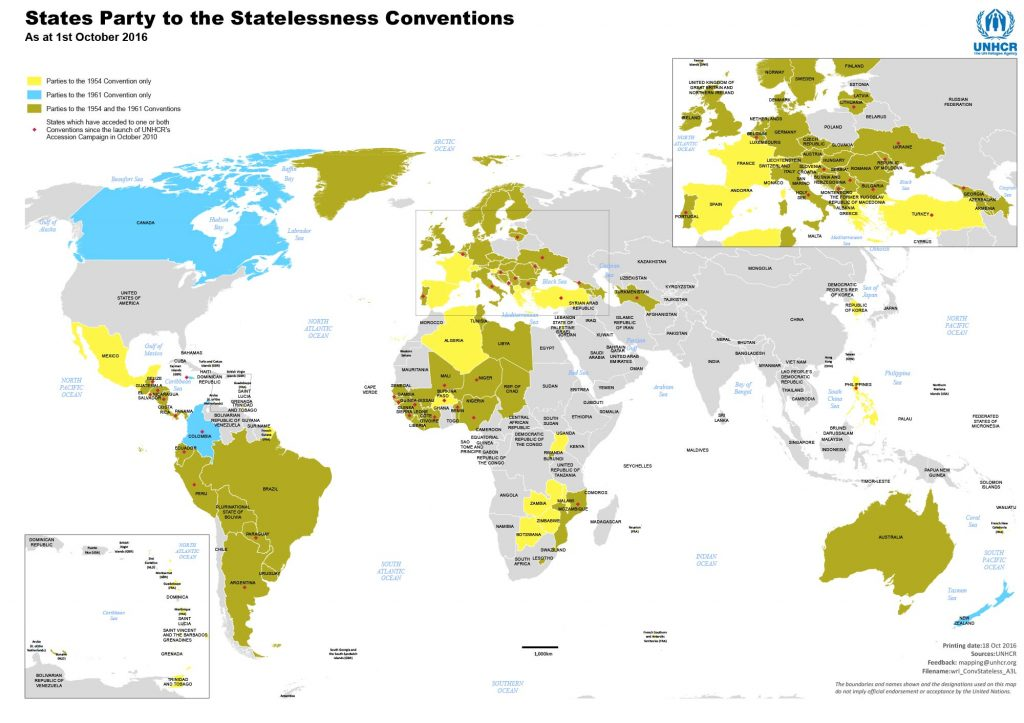 Государства-участники Конвенций о безгражданстве