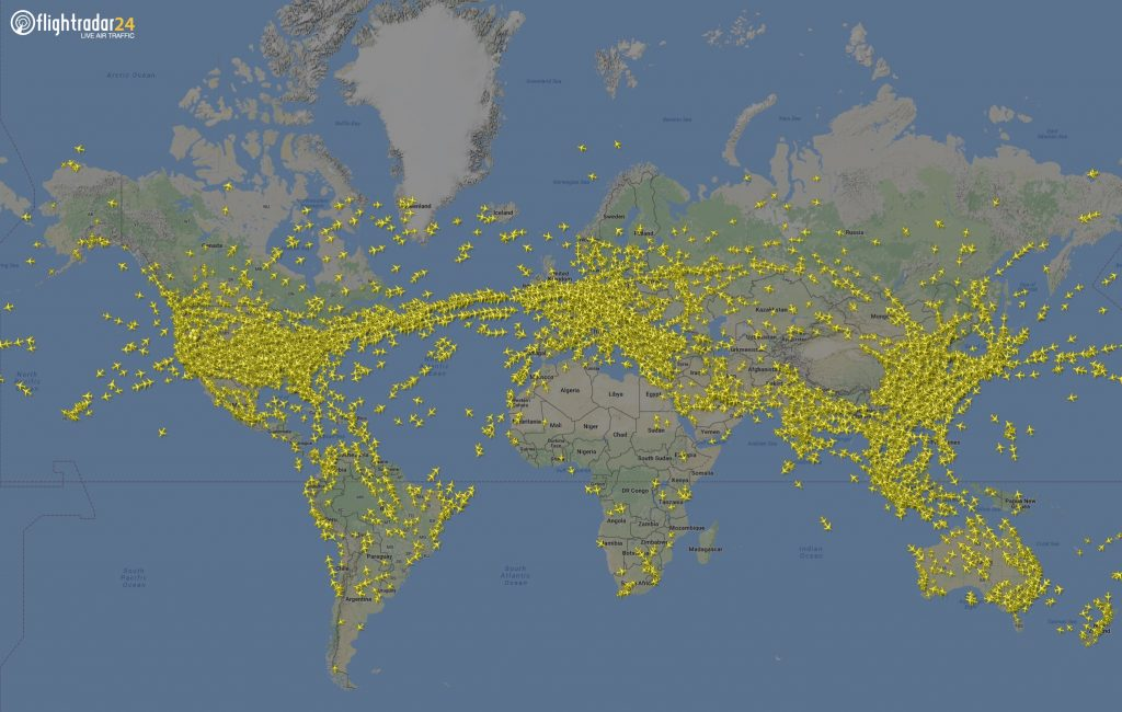 Самолеты в реальном времени