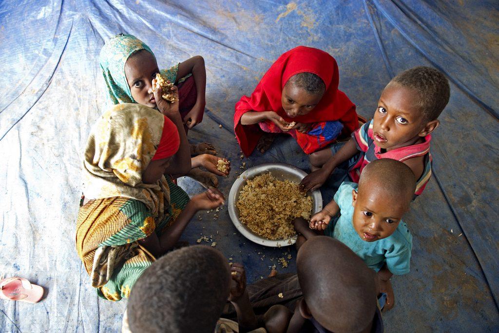Спасаясь от засухи и голода в своей родной стране, тысячи сомалийцев поселились на границе в Долло Адо