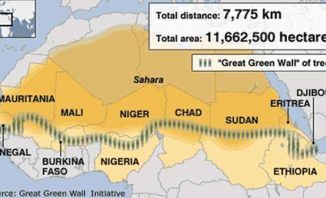 Великая зеленая стена — проект Африканского союза в котором задействовано более 20 стран