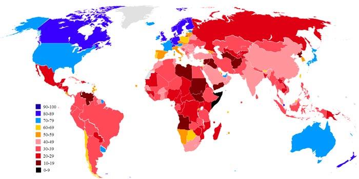 Индекс восприятия коррупции реферат 5757