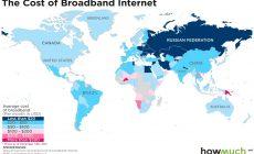 Стоимость интернета в разных странах