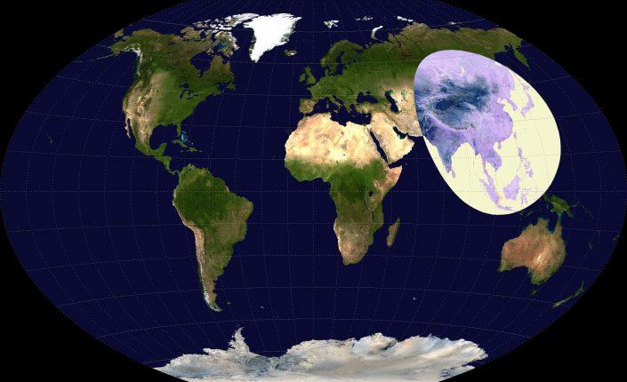 Большая часть населения мира живет на одной восьмой суши